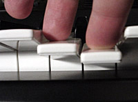 Second touch on the keyboard